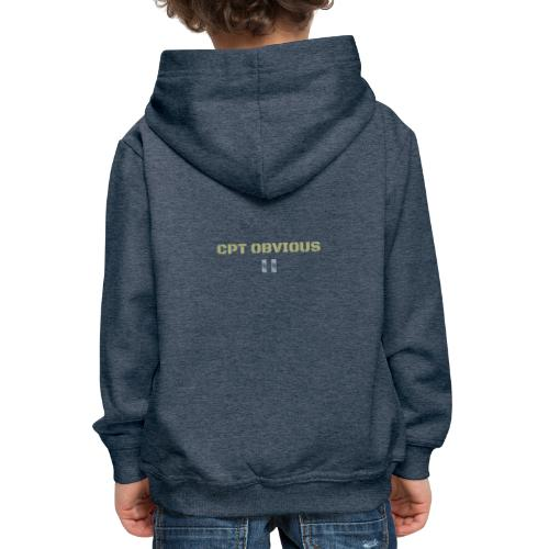 CPT CAPTAIN OBVIOUS - Bluza dziecięca z kapturem Premium