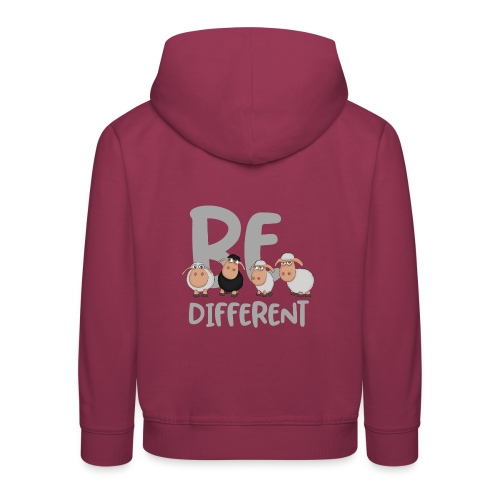 Be different Schafe: Einzigartiges schwarzes Schaf - Kinder Premium Hoodie