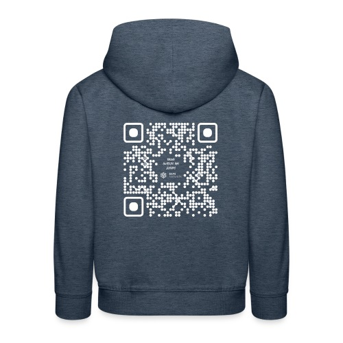 QR The New Internet Should not Be Blockchain Based W - Kids' Premium Hoodie