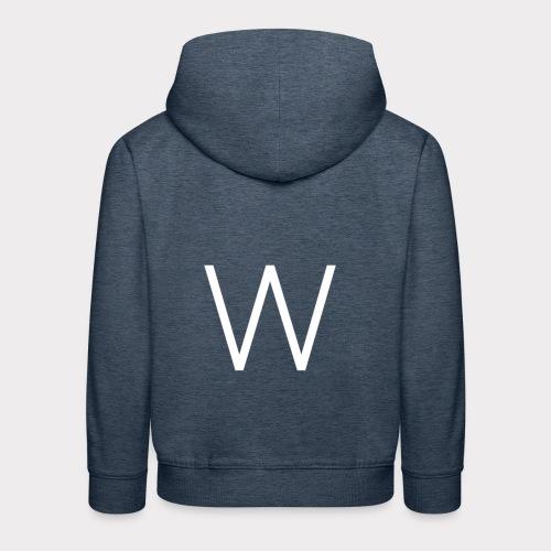 White W - Kids' Premium Hoodie