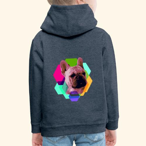 French Bulldog head - Pull à capuche Premium Enfant