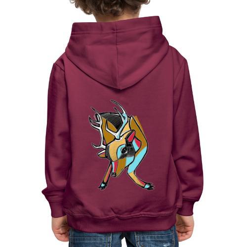 Deer - Felpa con cappuccio Premium per bambini