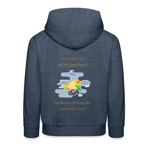 Der Fahrrad-Fisch - Kinder Premium Hoodie