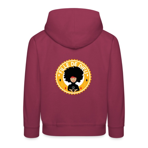 fillededieujaune - Pull à capuche Premium Enfant