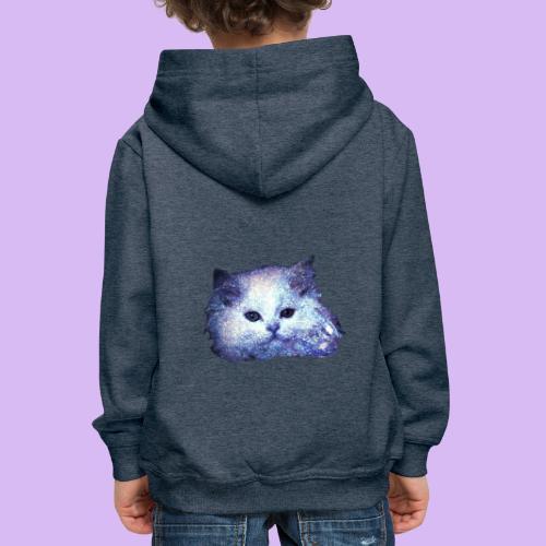 Gatto glitter - Felpa con cappuccio Premium per bambini
