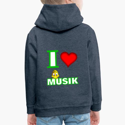 Ich liebe Musik - Kinder Premium Hoodie