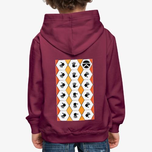 |K·CLOTHES| HEXAGON ESSENCE ORANGES & WHITE - Sudadera con capucha premium niño