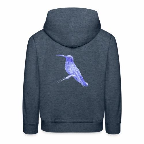 Hummingbird with ballpoint pen - Kids' Premium Hoodie