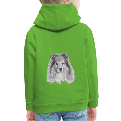 shetland sheepdog sheltie - Premium hættetrøje til børn