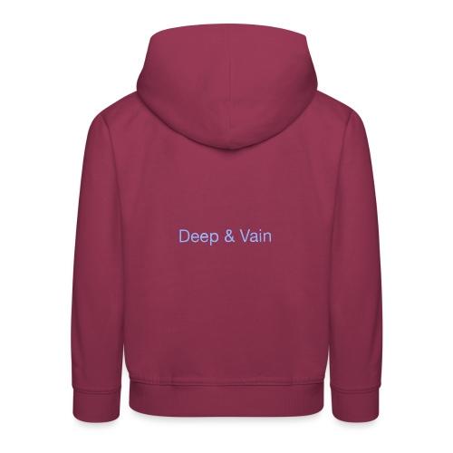 Deep&Vain Text Logo - Kinderen trui Premium met capuchon