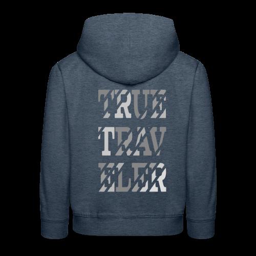 True Traveler Grey design - Lasten premium huppari