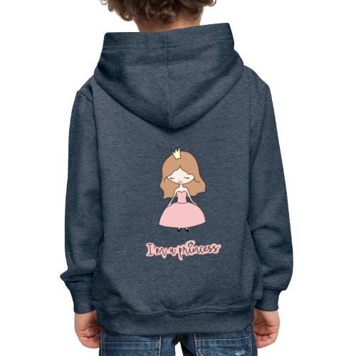 I'm a Princess - Felpa con cappuccio Premium per bambini