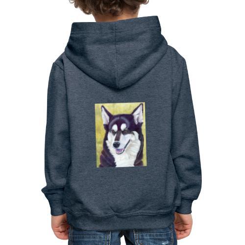 Siberian husky - Premium hættetrøje til børn