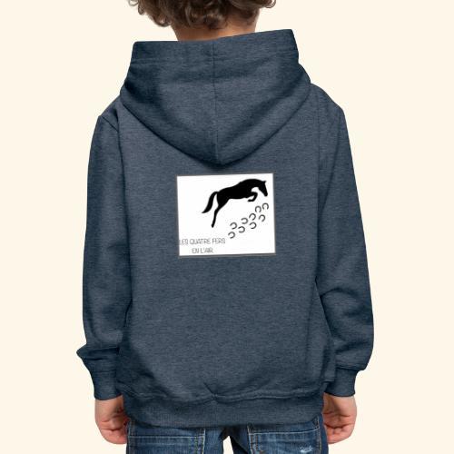 Association Les Quatre Fers En L'Air. - Pull à capuche Premium Enfant
