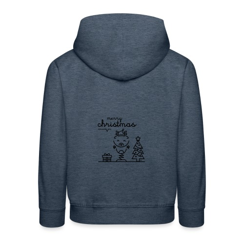 Noël reindeer 2 - Pull à capuche Premium Enfant