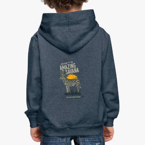 Zèbre - Pull à capuche Premium Enfant