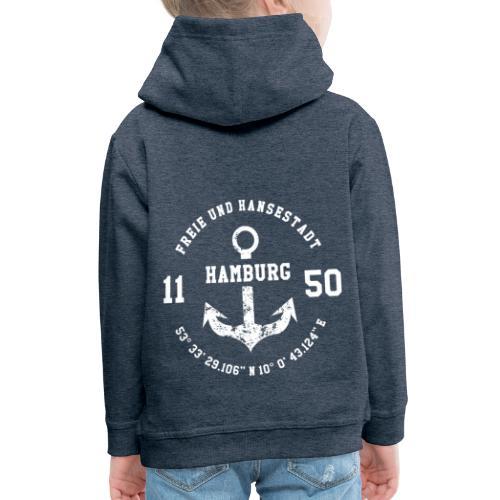 Freie und Hansestadt Hamburg 1150 weiss - Kinder Premium Hoodie