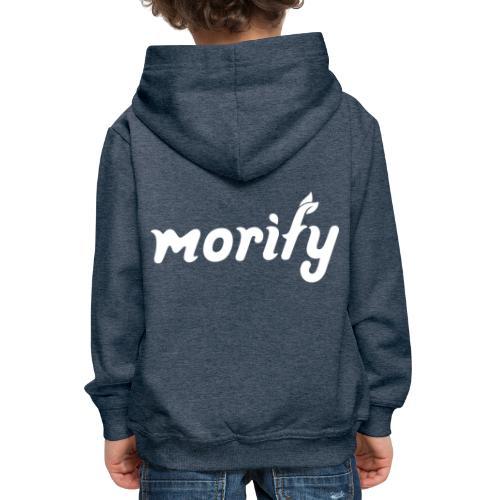 morify logo white - Kinder Premium Hoodie
