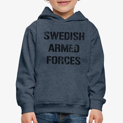 SWEDISH ARMED FORCES Rugged + SWE Flag - Premium-Luvtröja barn