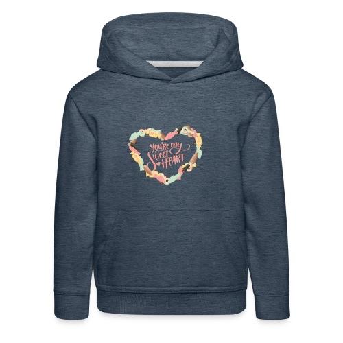 Sweetheart - Godis hjärta - Premium-Luvtröja barn
