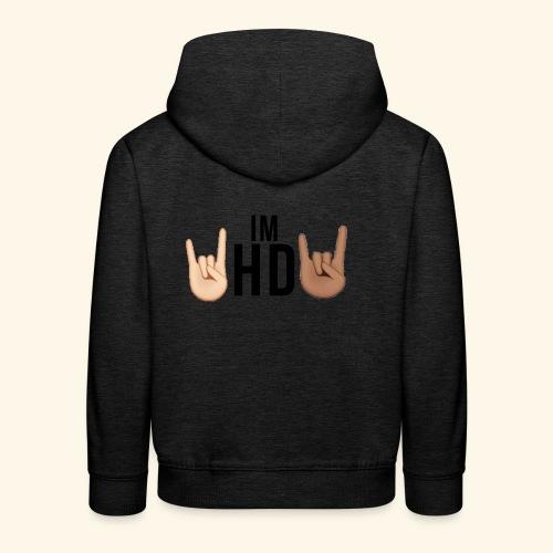 Im hd black logo - Kids' Premium Hoodie