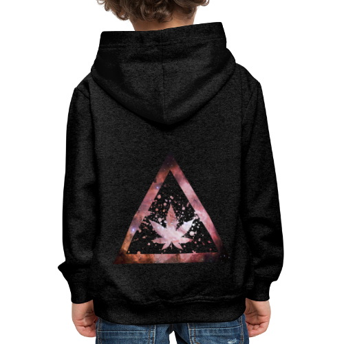 Galaxy Weed Marijuana Triangle Splashes - Kinder Premium Hoodie