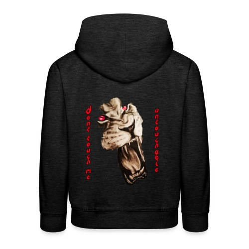Lion4 Untouchable People! Dont touch me! - Kinder Premium Hoodie