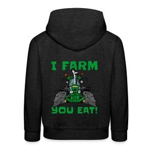 I farm you eat jd - Kinderen trui Premium met capuchon