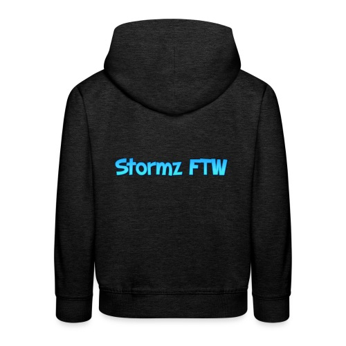 Stormz FTW blue and white fade - Kids' Premium Hoodie