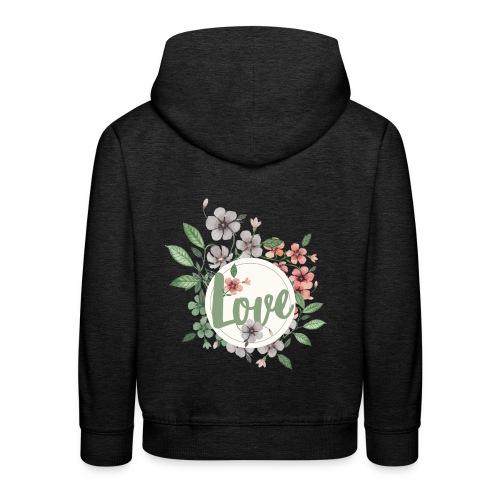 Love - Felpa con cappuccio Premium per bambini