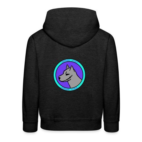 Wolf przerobka team Blues7 - Bluza dziecięca z kapturem Premium
