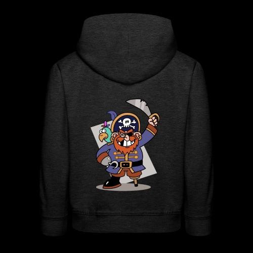 Pirat Zahnlücke mit Farbagallo - Kinder Premium Hoodie