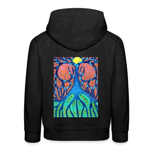 Drapiężne Drzewo - Bluza dziecięca z kapturem Premium