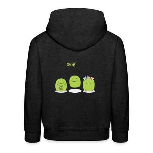 Give peas a chance! - Kinder Premium Hoodie