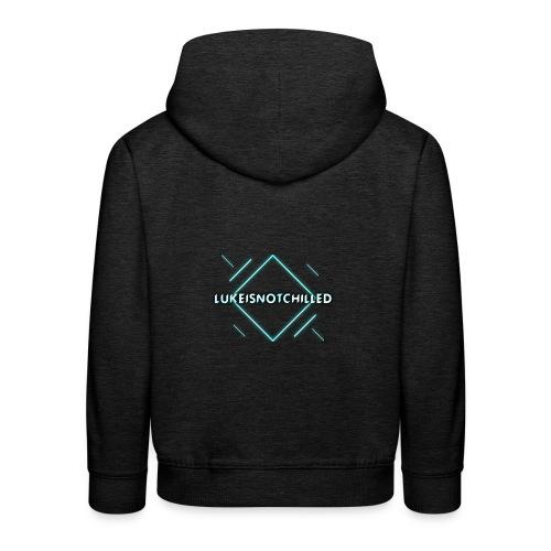 Lukeisnotchilled logo - Kids' Premium Hoodie