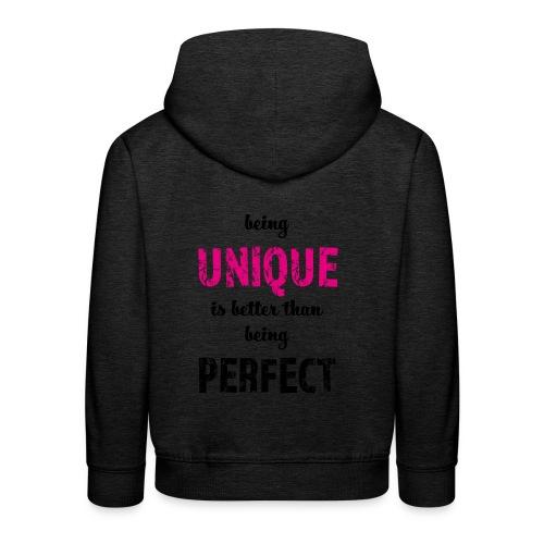 being UNIQUE - Kinder Premium Hoodie