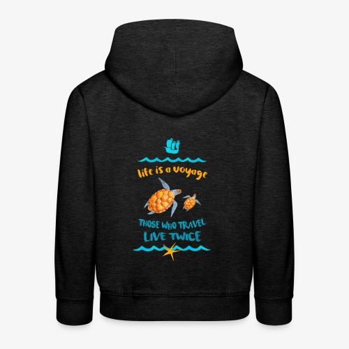 life is a travel - Bluza dziecięca z kapturem Premium