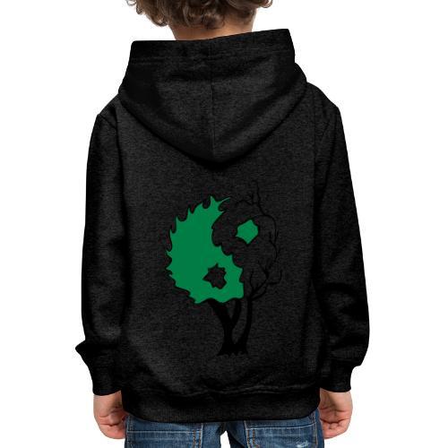 Yin Yang Arbre - Pull à capuche Premium Enfant
