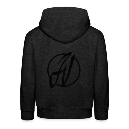 JV Guitars - logo noir - Pull à capuche Premium Enfant