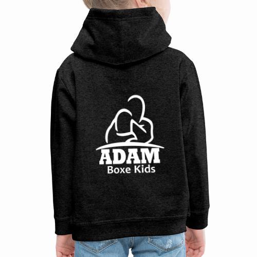 logo adam boxe enfant blanc - Pull à capuche Premium Enfant