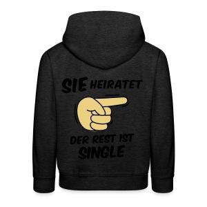 Sie heiratet, der Rest ist Single - JGA T-Shirt - Kinder Premium Hoodie
