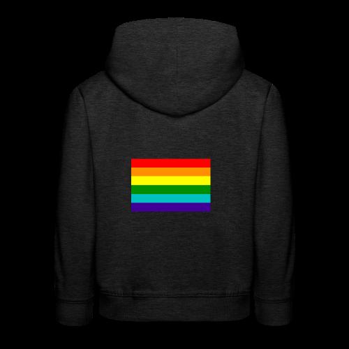 Gay pride rainbow vlag - Kinderen trui Premium met capuchon
