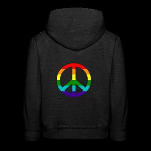 Gay pride peace symbool in regenboog kleuren - Kinderen trui Premium met capuchon