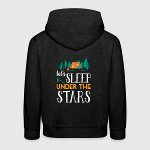 Sleep under the stars - camping - Kinder Premium Hoodie