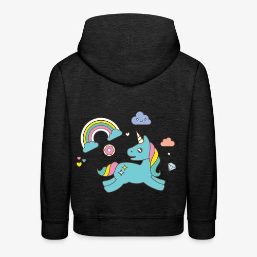 colored unicorn - Kids' Premium Hoodie