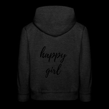 happy - Bluza dziecięca z kapturem Premium