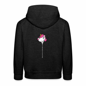 Janina Johnson Zipper Unicorn - Kinder Premium Hoodie