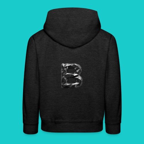 paper-melt-font-letter-B-1- - Kids' Premium Hoodie