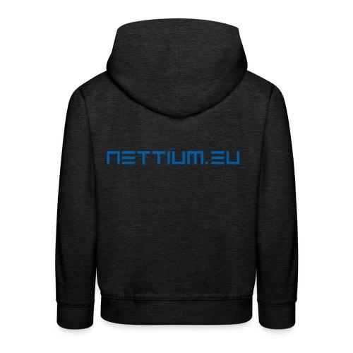 Nettium.eu logo blue - Kids' Premium Hoodie