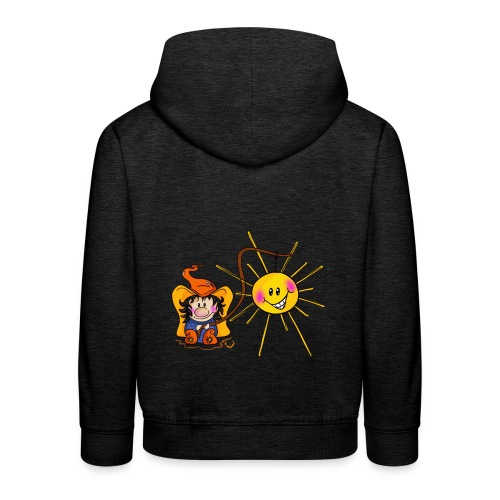Sonne geangelt - Kinder Premium Hoodie